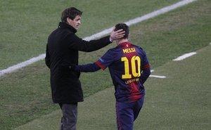 Xuất hiện mâu thuẫn giữa Messi và Vilanova
