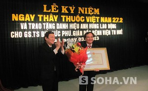 GS.TS Bùi Đức Phú vinh dự đón nhận danh hiệu Anh hùng Lao động