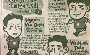 """Công Vinh cực """"kute"""" trong tranh nữ phóng viên Nhật"""
