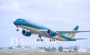 Máy bay Airbus A350 đầu tiên của Vietnam Airlines bay thử gần 4h