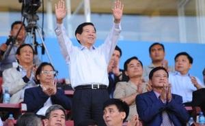 Nguyên Chủ tịch nước Nguyễn Minh Triết thăm các Đội dự tuyển trẻ Quốc gia