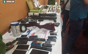 Rùng mình với số vũ khí thu giữ trong vụ nổ súng bắn chết lễ tân nhà nghỉ
