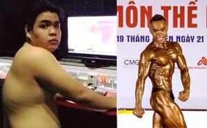 Thất tình, chàng trai nặng hơn một tạ quyết tập luyện giảm 35kg, sở hữu thân hình cơ bắp