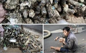 """Người đàn ông uống vội cốc nước bên cạnh đống rác thải khiến bao người """"nín lặng"""", xúc động"""