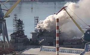 Tàu chiến Nga bốc cháy khi thả neo tại thành phố gần biên giới với Trung Quốc, Triều Tiên