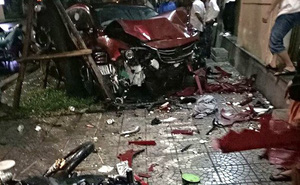 Ô tô mất lái lao thẳng vào nhóm người đang đốt lửa trại bên quốc lộ, 2 người thiệt mạng