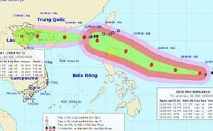 """Bão số 5 tiến thẳng vùng biển Quảng Ninh - Nam Định, siêu bão Mangkhut """"nối gót"""" vào biển Đông"""