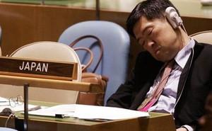 Tấm ảnh ngủ gật và cách chợp mắt ở Liên Hợp Quốc