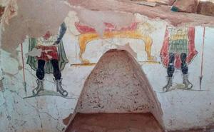 Bức tranh lạ bên ngoài ngôi mộ cổ đại thời La Mã