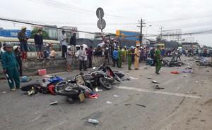 Xe container tông 20 xe máy làm ít nhất 4 người chết ở Long An vẫn còn hạn kiểm định