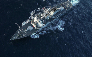 Tàu hộ vệ Nga và tàu khu trục Mỹ chở đầy tên lửa đang vờn sát nhau trên Biển Đen