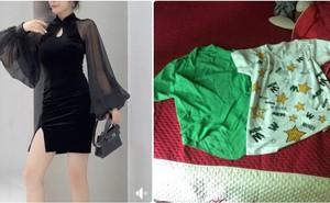 """Cô gái """"khóc ròng"""" khi đặt chiếc váy sang chảnh, nhận về sản phẩm không liên quan và phản ứng phũ của chủ shop"""
