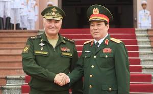 Đại tướng Lương Cường đón đoàn cấp cao Bộ Quốc phòng Liên bang Nga