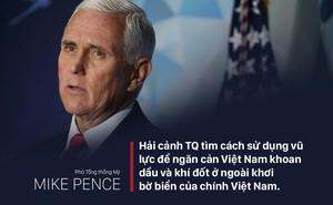 Phó Tổng thống Mỹ lên án việc tàu Trung Quốc ngăn cản hoạt động dầu khí của Việt Nam