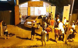 Clip: Hiện trường vụ ô tô mới bấm biển lao từ trên đê xuống, đâm thẳng vào nhà dân
