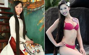 """Mái tóc dài """"kỉ lục"""" và ảnh bikini gợi cảm của vợ shark Hưng thời thi hoa hậu"""