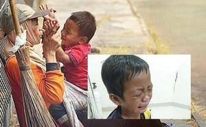 Tiếng khóc xé lòng của cậu bé mất mẹ sau tai nạn