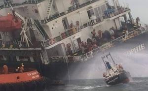 18 thuyền viên nước ngoài hốt hoảng khi tàu 9000 tấn bị thủng, nghiêng trên vùng biển Hà Tĩnh