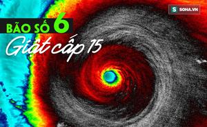 Bão số 6 gia tăng sức mạnh, xuất hiện điểm bất thường của một trận bão dữ dội