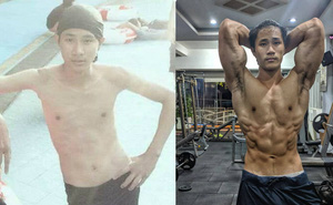 """Sau 3 năm tập luyện, thanh niên gầy gò """"lột xác"""" ngoạn mục, thân hình chuẩn như mẫu Tây"""