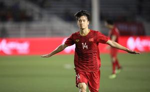 """[Kết thúc] U22 Việt Nam 2-1 U22 Indonesia: Hoàng Đức """"nã đại bác"""" cháy lưới Indonesia"""