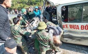 Hiện trường kinh hoàng vụ xe chở đoàn người khuyết tật đâm vào vách núi ở Nghệ An