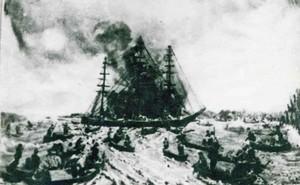 Nguyễn Trung Trực đánh chìm tàu chiến Pháp ngay trên sông Vàm Cỏ Đông