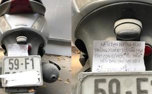 Mẩu giấy gài trên chiếc xe bám bụi, nội dung và nét chữ khiến người đọc xúc động