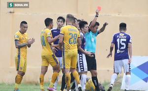 Đình Trọng dính thẻ đỏ, Hà Nội FC thảm bại ê chề ở V.League