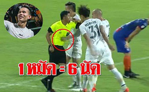 Quá xấu hổ, cầu thủ Thái Lan đấm trọng tài bất ngờ xin rút khỏi ĐTQG dự King's Cup