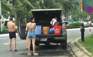 Chính quyền Đà Nẵng tìm kiếm gia đình tắm trên đường phố ven biển