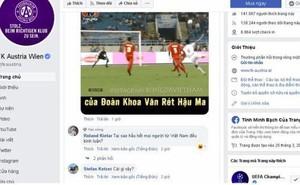 Bị fan Việt 'tấn công' fanpage đội bóng, CĐV Austria Wien 'than trời'