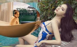Bạn thân tung ảnh bán nude nóng bỏng của Hoa hậu Hương Giang