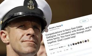 """TT Trump """"ra tay"""" sau vụ kiện chỉ huy SEAL Team 7: 8 công tố viên bị tước Huân chương?"""