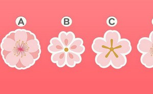 Bạn yêu cuồng nhiệt hay yêu ngọt ngào? Hãy chọn 1 bông hoa đào và xem đáp án