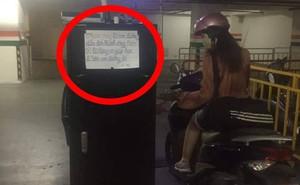 Người bảo vệ dán các mẩu giấy quanh hầm gửi xe, nội dung khiến ai thấy cũng bất ngờ