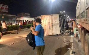Đi chơi trung thu, nam thanh niên bị xe tải lật trên Quốc lộ 13 đè trúng nguy kịch