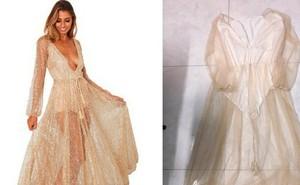 Order đầm sang chảnh ăn cưới, cô gái nhận về quả váy mỏng như giấy nhưng hành động của chủ shop mới sốc