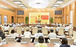Công bố các Nghị quyết của UBTVQH về công tác cán bộ