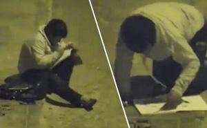 Xúc động trước hình ảnh cậu bé ngồi học bài dưới ánh đèn đường, triệu phú vượt 14.000 cây số để tặng cậu những món quà quý giá