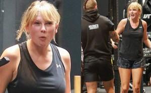 """Đây là Taylor Swift đi tập gym: Mặt mộc phờ phạc mướt mải mồ hôi, body """"đô con"""" và hình như lại tăng cân nữa rồi?"""