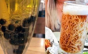 Không chỉ có bia trân châu kỳ dị mới xuất hiện, từng có món mì ramen trong bia cũng khiến dân tình kinh ngạc