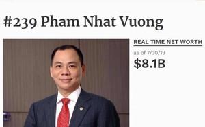 Forbes vừa định lại khối tài sản của tỷ phú Phạm Nhật Vượng, dân mạng hốt hoảng khi thử phép tính bao lâu mới xài hết tiền?