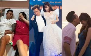 Sao Việt người nằm đất chăm vợ đẻ, người bồng bế vợ trên sân khấu