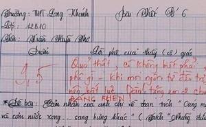 Nam sinh gây sốt với bài văn dài 18 trang, cô giáo đọc xong không biết phải phê gì vì quá xuất sắc!