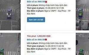 Sự thật việc tài xế bị phạt nguội gần 70 triệu đồng ở Bắc Ninh