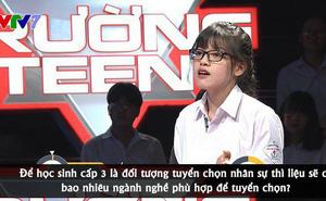 Nữ sinh Trường Teen phản biện cực gắt khiến Ban giám khảo hết lời khen ngợi: 'Làm thêm hay tham gia hoạt động ngoại khoá ở trường tốt hơn?'