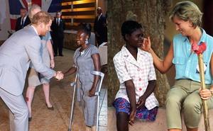 Hoàng tử Harry gặp lại cô gái khuyết tật từng ngồi trong lòng Công nương Diana cách đây 22 năm và phản ứng dữ dội của dư luận