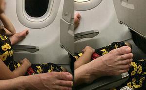 Phát hoảng với bàn chân bốc mùi gác trên ghế máy bay, mặc cho cô gái 'mỏi miệng' nhắc nhở
