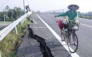 Sụt lún cầu vượt trên cao tốc Đà Nẵng - Quảng Ngãi, chủ đầu tư nói gì?